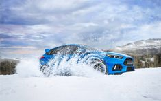 Download wallpapers Ford Focus RS, offroad, 4k, 2018 cars, winter, new Focus RS, Ford