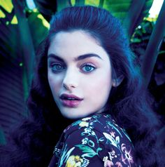 """Rising star Odeya Rush 16 years old girl with her Iconic white skin and black thick eyebrow Her upcoming science fiction film """"The Giver"""""""