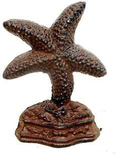 Whitewash Cast Iron Starfish Doorstop 10