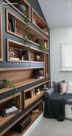 Home Office Design Built Ins Paint Colors 30 Ideas Diy Furniture, Furniture Design, Bedroom Furniture, Furniture Storage, Diy Bedroom, Painted Furniture, Built In Furniture, Trendy Furniture, Woodworking Furniture