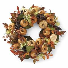 Grandin Road Harvest Pumpkin Wreath - BestProducts.com