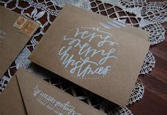 Christmas envelopes. Love the calligraphy!