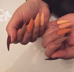 192 best fall nail art designs in 2019 29 Aycrlic Nails, Dope Nails, Manicure, Glitter Nails, Coffin Nails, Perfect Nails, Gorgeous Nails, Pretty Nails, Fall Acrylic Nails