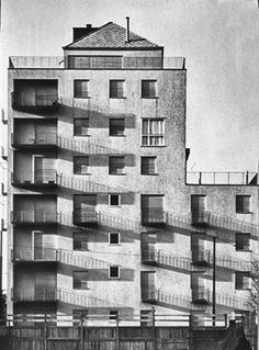 mario asnago e claudio vender - edificio per abitazioni e uffici, milano, via faruffini 6, 1953