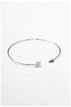 Brass Arrow Cuff: Silver | $18