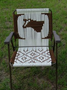 Brown Cow Macrame Chair