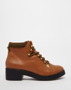 Image 1 ofEeight Madison Lace Up Low Heeled Ankle Boots