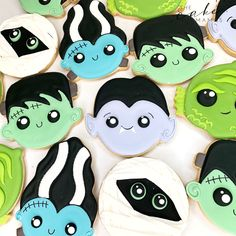 Call or email to order your celebration cookies today. Click the link below! Halloween Cookies Decorated, Halloween Decorations, Cupcake Wars, Monster Mash, Custom Cookies, Frankenstein, Dracula, Dessert Table, Cookie Decorating