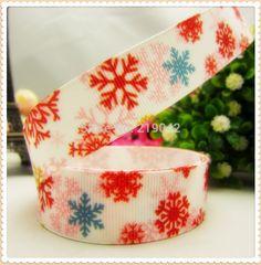 14879 ,22mm 10 yards Cartoon Christmas Snow Series printed grosgrain ribbon,Clothing accessories,DIY jewelry wedding package