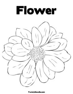 Flower Coloring Page from TwistyNoodle.com