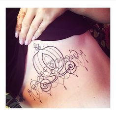 """Cinderella's carriage done by @prettypinkbubble #inkeddisney"""