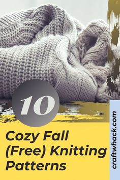 Fall has arrived! This is the season for cozy, which translates into fireplaces, hot chocolate, and sweaters. For our knitters who have more than enough sweaters, Craftwhack has something new and different - a compilation of 10 free knitting patterns of non-sweater items. From this selection, you can make something unique for every member of the family...including the dog! If you don't know how to knit you will find plenty of online tutorial videos. You should make these. #knitting #fall…