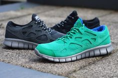 Nike Free Run+ 2 Green, Black & Anthracite ...