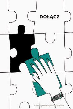 puzzle, ręka, paznokcie, bransoletka