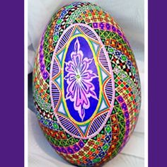 Pysanaka art , Ukrainian Easter Egg by Lorrie Popow, from Iryna with love