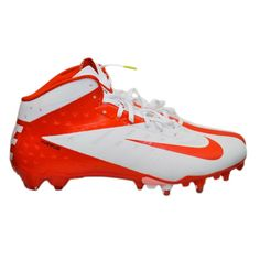 c6985f1a858 Nike Vapor Talon Elite Mid 3 4 Football Cleats White Orange Men s 11.5 NEW   Nike