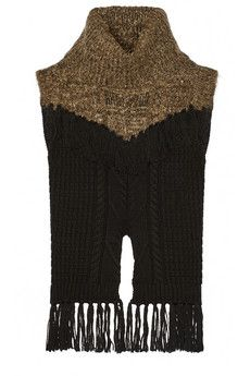 Thakoon Addition fringed cable-knit wool-blend sweater | NET-A-PORTER