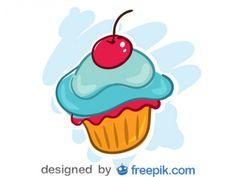 Cherry Cupcake Vector Design  by Freepik