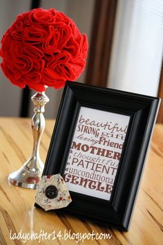 Pretty Frame and Free Printable Subway Art suitable for framing by Dollar Store Crafts #MothersDaygiftidea