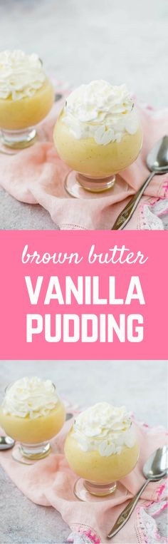 I've kicked up homemade vanilla pudding a notch with the addition of brown butter, adding a slightly nutty, completely irresistible flavor to the pudding. Get the EASY pudding recipe on RachelCooks.com!