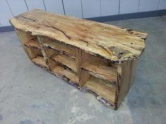 tv stand all live edge spalted maple