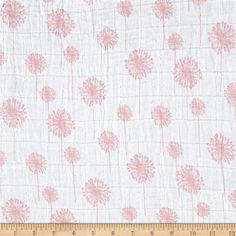 Backing fabric - ultra soft!  Embrace Double Gauze Dandelion Coral from @fabricdotcom  From Shannon Fabrics, this ultra soft double gauze fabric is perfect for making popular swaddling blankets, bibs, burp cloths, bedding and baby accessories. This double gauze consists of two layers of gauze tacked together. It has an incredibly soft hand and nice drape.