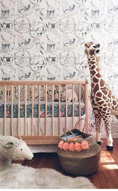 a wild nursery #babyroom nursery design #moderndesign luxury baby room #nurseryideas . See more inspirations at www.circu.net