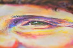 Christi Ferreira Art - she smiles with strength & dignity, oil pastel & acrylics