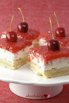 Cherry cream cheese shortbread bars