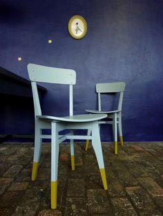 chaises chaussettes par l'atelier charivari