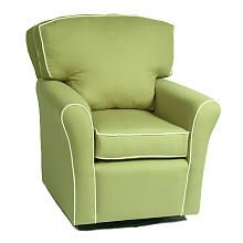 """Villa Pillow Back Glider - Pistachio with White Piping Oxford Fabric - The Kacy Collection - Babies """"R"""" Us"""