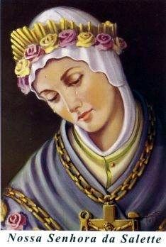 Our Lady of La Salette pray for us. Mama Mary, Mary I, Holy Mary, Blessed Mother Mary, Divine Mother, Blessed Virgin Mary, Religious Images, Religious Icons, Religious Art