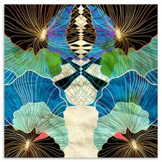 Luxury Canvas Collection - Water Garden, Printed Canvas, 40x40cm | ACHICA