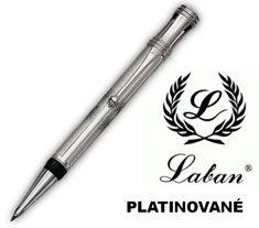 platinované guľôčkové pero značky LABAN - krásny gravírovaný vzor Guiloche  #luxusnepero #luxus #dizajn #design #umenie #dar #darcek #sperk #vianoce Office Supplies, Luxury