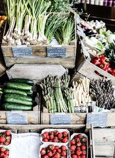 summer fruit and vegetables