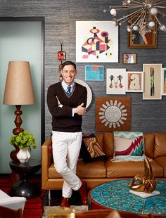 Happy chic home décor giant Jonathan Adler is as focused as ever on making beautiful furniture, accessories, bedding and pet products. Jonathan Adler, Modern Lighting Design, Modern Decor, Color Inspiration, Interior Inspiration, Masculine Interior, Amazing, House Design, House Styles