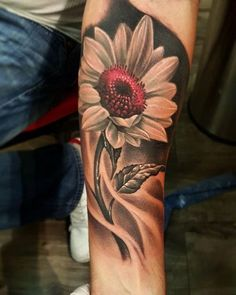 Unique black and red sunflower forearm tattoo Sunflower tattoo – Fashion Tattoos