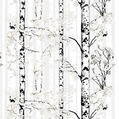 Bring nature into your home with the Luontopolku curtain by Vallila. The pattern was designed by Riina Kuikka, displaying blossoming birch trees. Available in different colors. Texas Homes, White Curtains, Tree Forest, House Extensions, Tree Print, Nature Decor, Marimekko, Different Colors, Fabric Design