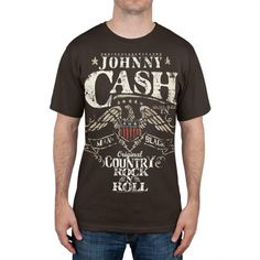 Johnny Cash - Eagle Seal Big & Tall T-Shirt