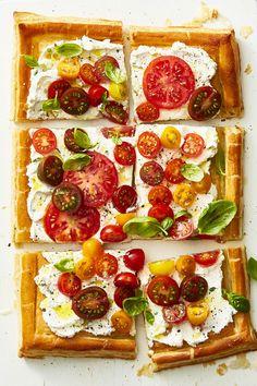 Herbed Ricotta and Fresh Tomato Tartgoodhousemag
