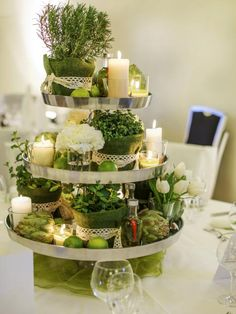 Centerpieces, bouquets and boutonnieres made from items other than flowers | Entertaining - DIY Party Ideas, Recipes, Wedding & Baby Showers | DIY