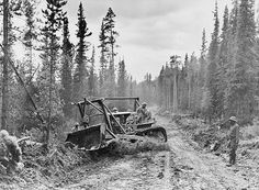 08 Mar 42: 08 Mar 42: Construction of the Alcan Highway gets underway by the US Army Corps of Engineers. The entire 1,700 mile route through Canada to connect Alaska with the Continental US will be completed in rough form in 7½ months. More: http://scanningwwii.com/a?d=0308&s=420308 #WWII