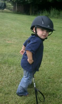 """""""My 2 year old son, Samuel, modeling his XS Ovation Deluxe Schooler Helmet. Ready to go for a ride!"""" - Jen Johnson"""