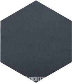 Durastone Charcoal 300X260 Hexagon Matt Tile | EVERSTONE Australia Color Tile, House Furniture, Front Porch, Interior Inspiration, Dark Grey, Laundry Room, Farmhouse Style, Bathrooms, Charcoal