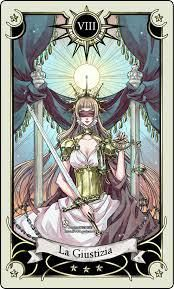 Allow yourself the freedom surrender brings.  Justice Tarot