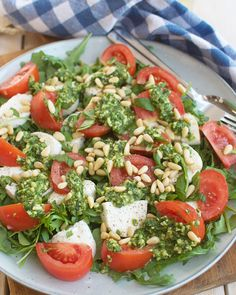 Veggie Recipes, Appetizer Recipes, Dinner Recipes, Healthy Recipes, Low Carb Low Calorie, Healthy Cooking, Cooking Recipes, Salade Caprese, Table D Hote