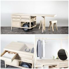 Yet another idea we that we wish we had thought of first! To celebrate Marseille being named this year's European Capital of Culture, COS Mobile Boutique, Mobile Shop, Commercial Interior Design, Commercial Interiors, Pop Up Stores, Market Stalls, Retail Space, Elle Decor, Retail Design