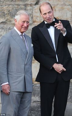 The royals looked to be enjoying themselves as they chatted together while watching the performances.The Prince and Duke then spent time speaking with performers