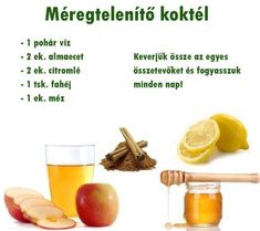 méregtelenít_ koktél Healthy Drinks, Healthy Tips, Healthy Recipes, Health Eating, Detox Tea, Clean Eating Recipes, Food Hacks, Smoothie Recipes, Healthy Lifestyle