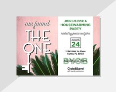 Host your housewarming party with these personalized PRINTABLE invitations! With a rustic modern charm, these digital invitations are super adorable and made to order. Available via Etsy at DiamariDesigns
